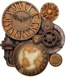 Gears of Time Sculptural Wall Clock - NG33981                    - Design Toscano