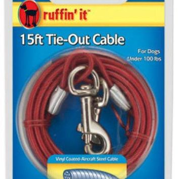 Ruffin' It 29215 Heavyweight Dog Tie-Out Cable, 15'