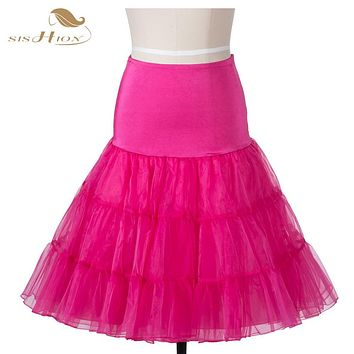 Summer Women Princess Elastic Stretchy Tulle Skirt Sexy Petticoat Pettiskirt Tutu Skirt Slip 50s Retro Rockabilly Black Skirts