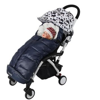 Hot 2016 New Rushed baby stroller Sleeping Bag Winter Warm Envelope For Pram Oxford footmuff for wheelchair stroller accessories