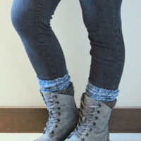 Harvest Navy Peppered Boot Sock