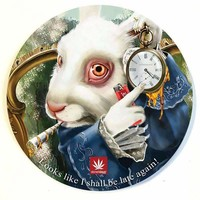 WHITE RABBIT DAB MAT