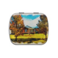 Fall Scene Candy Tin