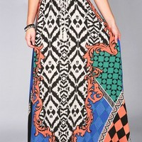 Baroque Pop Maxi Skirt | Trendy Skirts at Pink Ice
