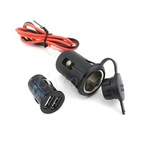 New Waterproof Motorcycle 12V 2.1A Cigarette Lighter USB Port Cell Phone Charger Car-Styling