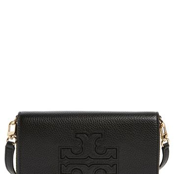 Tory Burch 'Harper' Pebbled Leather Wallet Crossbody Bag | Nordstrom