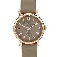 Marc By Marc Jacobs Baker Mini Grey Leather Strap Watch