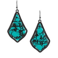 Alex Earrings in Variegated Teal Magnesite - Kendra Scott Jewelry