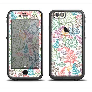 The Colorful Vector Leaves Apple iPhone 6 LifeProof Fre Case Skin Set