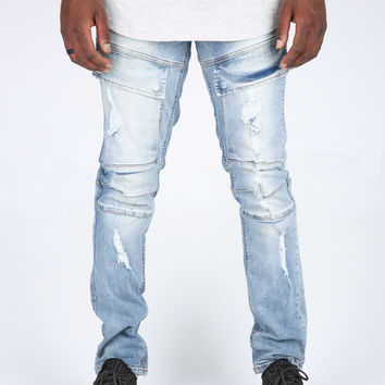 The Miller Destroyed Military Denim in Ice