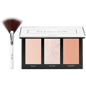 Elevation Mini Highlighter & Cheek Palette w/ Fan Brush