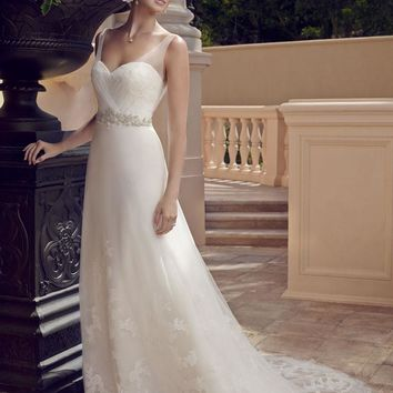 Casablanca Bridal 2196 Tank A-Line Wedding Dress