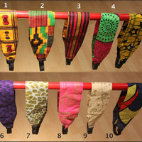 Headbands - African Ankara Wax Cotton Print Fabric Headbands