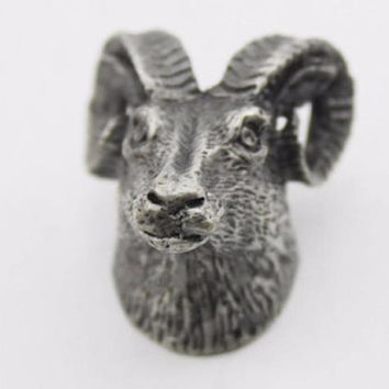 Unique Animal-Head Shaped Antique Silver/Pewter Knobs for Drawers & Cabinetry