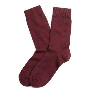 Women's Wine Egyptian Cotton Crew Socks | Brooks Brothers