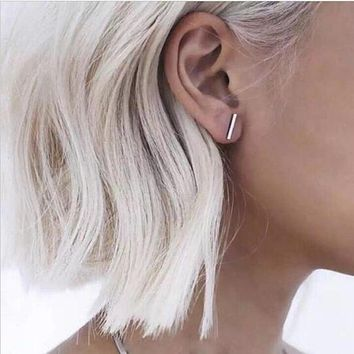 T Bar Ear Stud Earrings