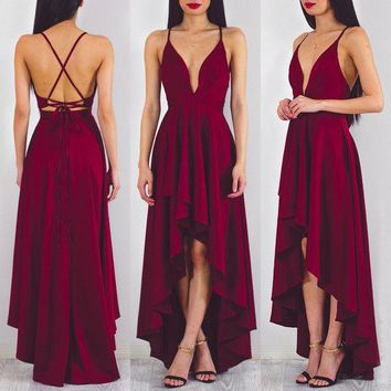 Hot Women Formal Bridesmaid Prom Party Gown Evening Wedding Long Maxi Dress