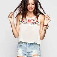 O'neill Fiona Womens Crop Tank Cream  In Sizes