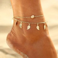 Leaf Ankle Jewlery