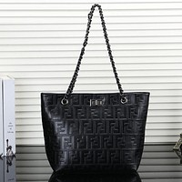 FENDI Women Fashion Leather Handbag Shoulder Bag Tote