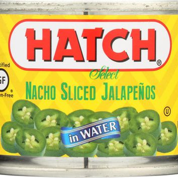 HATCH: Nacho Sliced Jalapenos, 4 oz