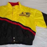 Vintage PENNZOIL RACING Team Pit Jacket NASCAR