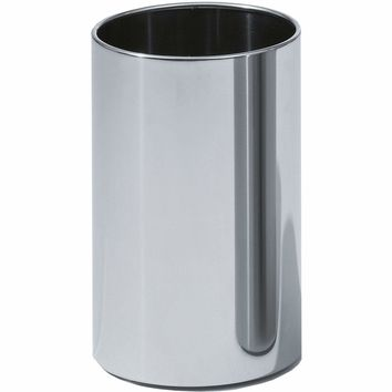 DW 104 Round Open Top Trash Can, Stainless Steel Wastebasket W/O Lid Cover