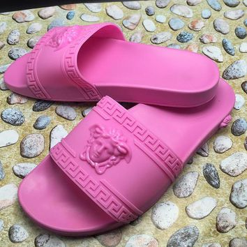 VERSACE Woman Fashion Sandals Slipper Shoes