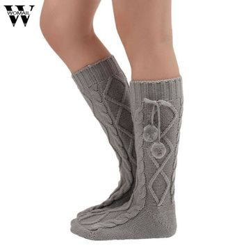 2017 Women Knitted Long Boot  Over Knee Thigh High Stocking