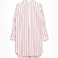 & Other Stories | Striped Cotton Dress | Light Red Stripe
