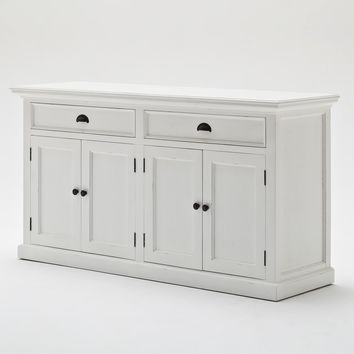 Halifax Glass-Display Hutch Unit White semi-gloss