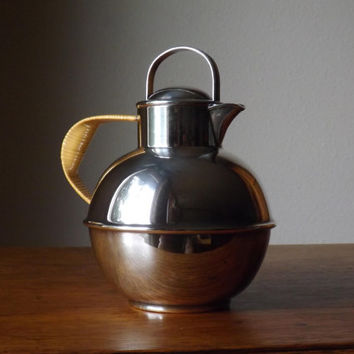 Guernsey Milk Can ~ Silver Plate ~ E. G. Webster & Sons ~ Vintage Gift ~ IS ~ Teapot ~ Hot Chocolate