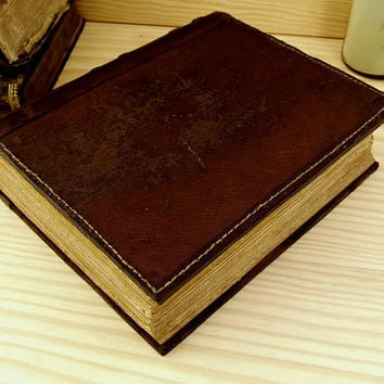 Large Leather Journal / Blank Book, Brown Vintage Leather - An Old Secret