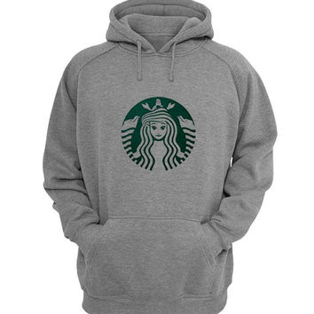 Starbuck Little Mermaid Hoodie Sweatshirt Sweater Shirt Gray for Unisex size with variant colour