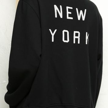 Elana New York Bomber Jacket - Brandy Melville