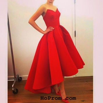 Short Red Prom Dresses Vintage Prom Dresses Short Evening Dress