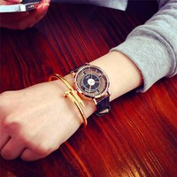 2018 Fashion Brand Hollow Watch Neutral Personality Simple Unique Wrist Watches Men Woman Watch Clock Relogio Feminino Saat