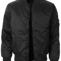 LE3NO Mens Lightweight Classic Zip Up Bomber Jacket with Pockets