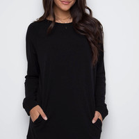 Sybill Sweater Dress - Black