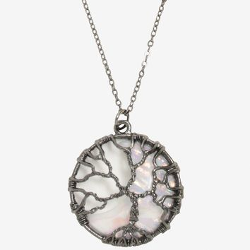 Blackheart Tree Moonstone Necklace
