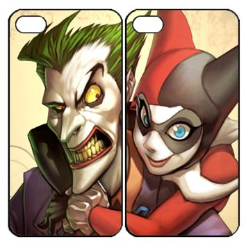 joker and harley quinn Y0003 Couple iPhone 4S 5S 5C 6 6Plus, iPod 4 5, LG G2 G3 Nexus 4 5, Sony Z2 Couple Cases