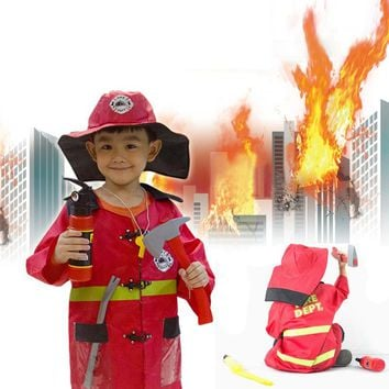 Fireman Party Wear, Firefighter Child Costume