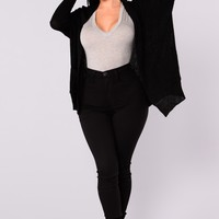 Take Me Home Cardigan - Black