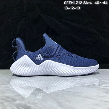 DCCK A373 Adidas Alphabounce Beyond Breathable Runing Shoes Blue