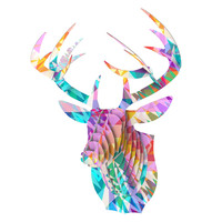 "Miranda Mol ""Triangle Feast"" Abstract Geometric Bucky Deer Bust Jr."