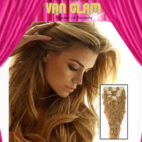 Clip In // Hair Extensions // Natural Wave // Dark Golden Blonde// 20 inches // 100% Cuticle Remy
