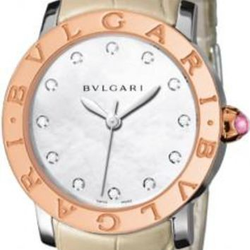 Bulgari - BVLGARI Automatic 37mm - Stainless Steel and Rose Gold