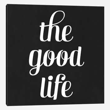 """Modern Art The Good Life by 5by5collective Canvas Print 37"""" L x 37"""" H x 0.75"""" D"""