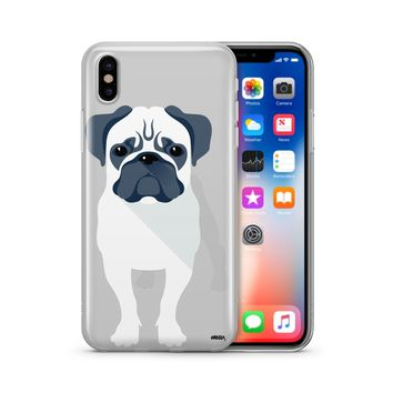 Full Pug - Clear TPU Case Cover Phone Case
