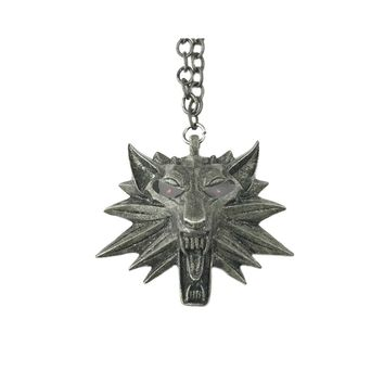 Witcher Wolf Necklace Pendant Video Games Theme Costume Cosplay by Athena